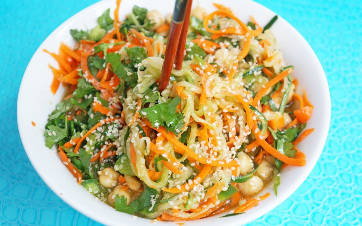 Sweet and Sour Cucumber Carrot Noodles