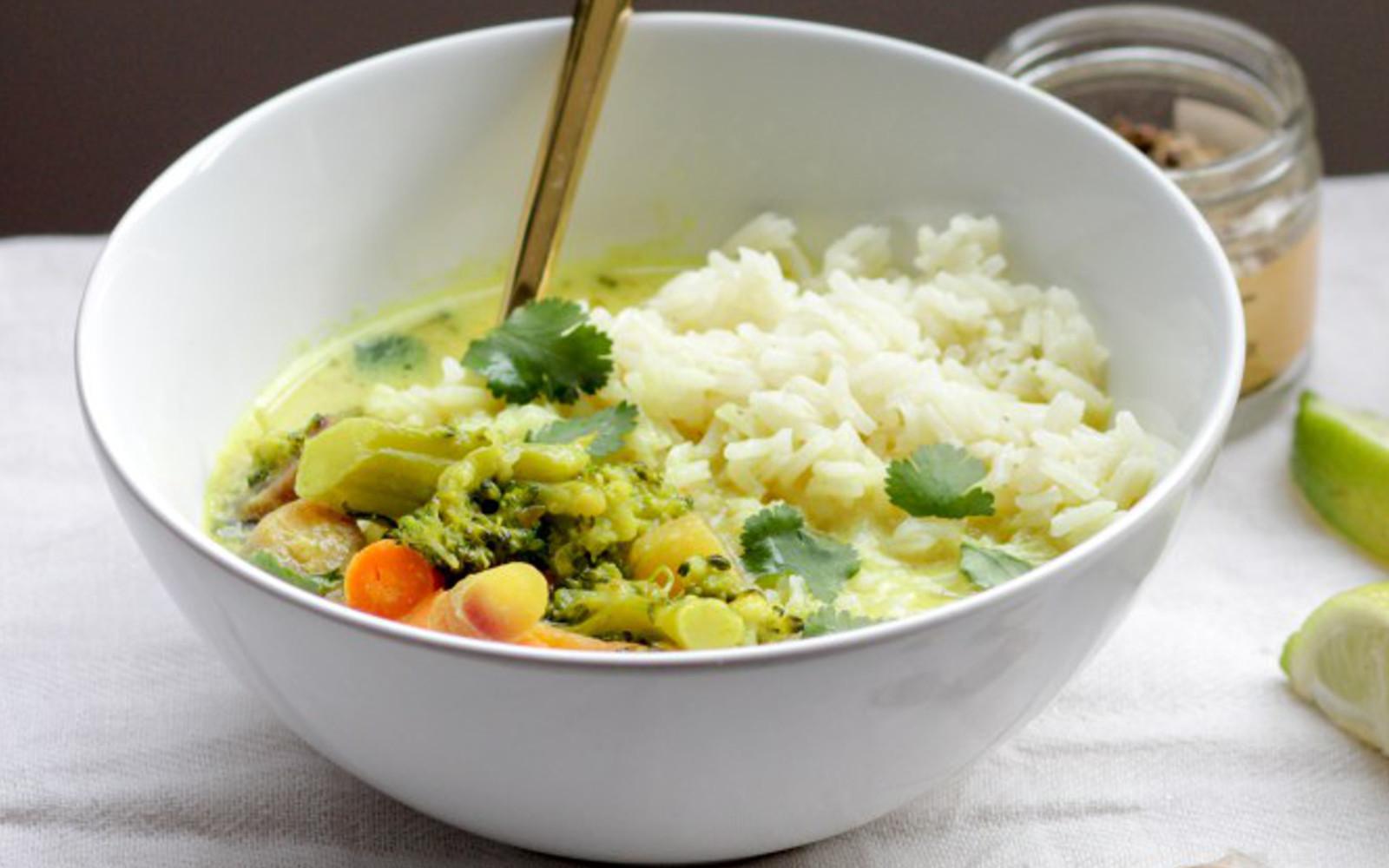 Turmeric Coconut Milk Vegetable Bowl