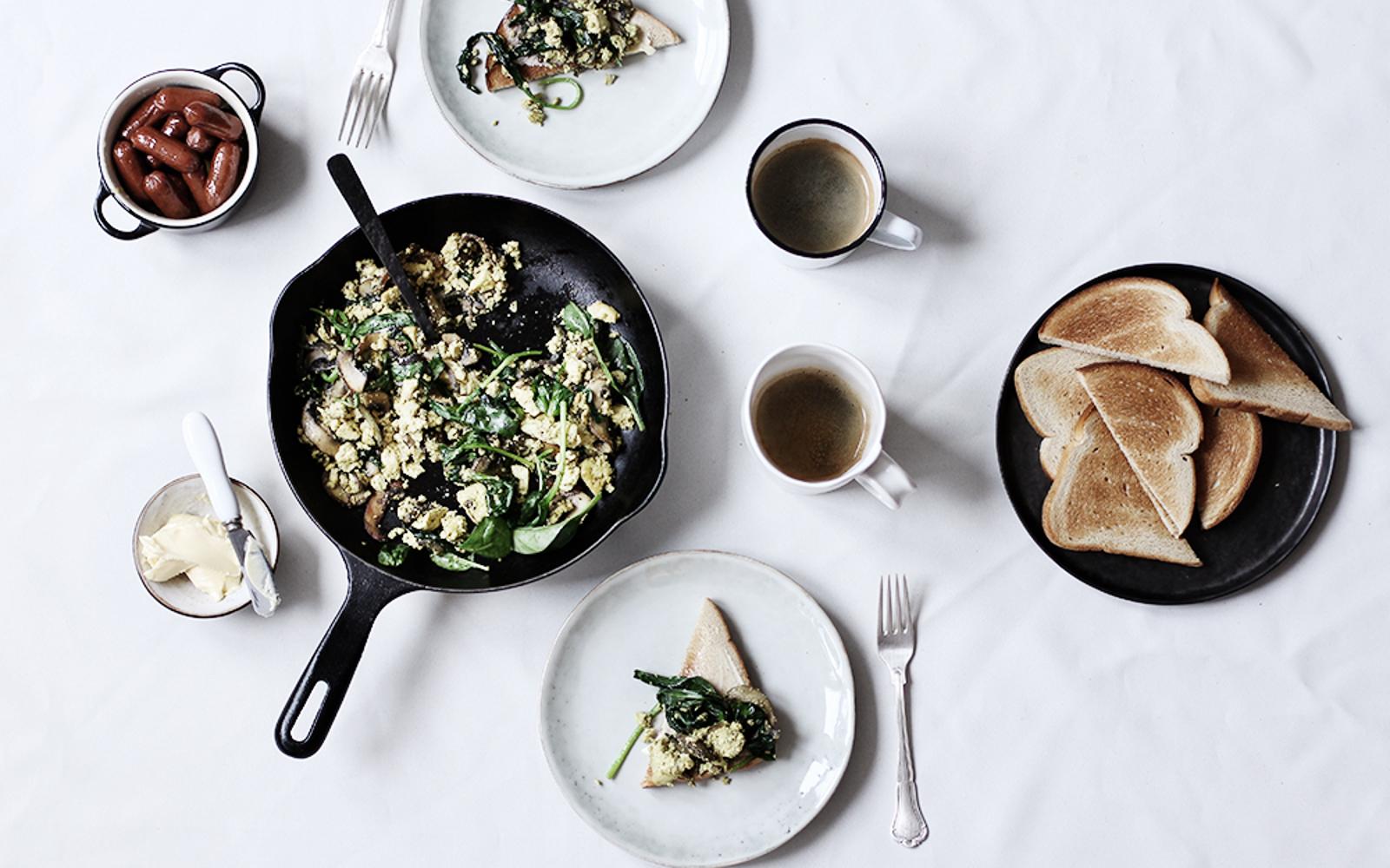 Wild Mushroom and Garlic Scramble