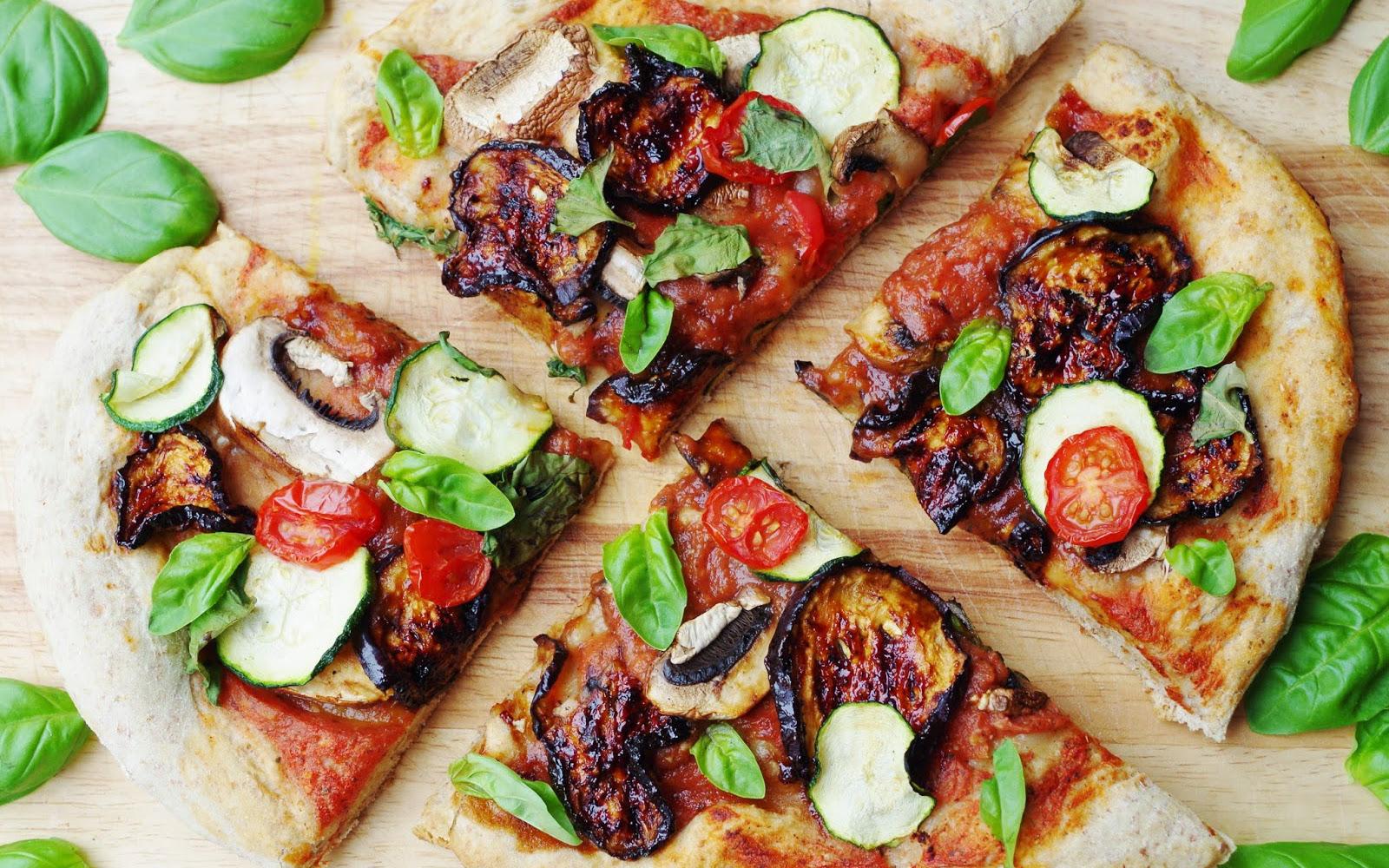 BBQ Eggplant Pizza