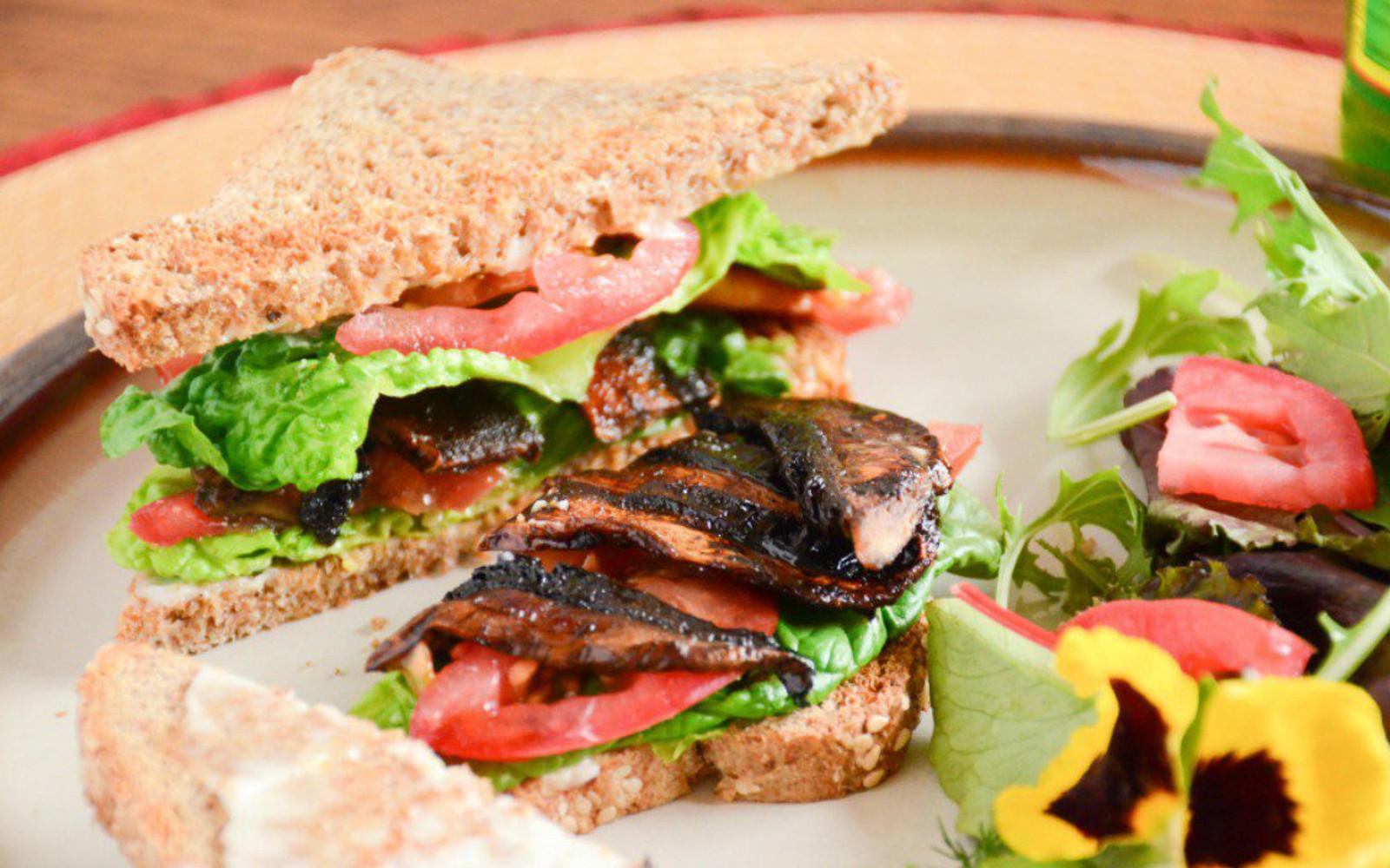 Portobello Mushroom BLT Sandwich