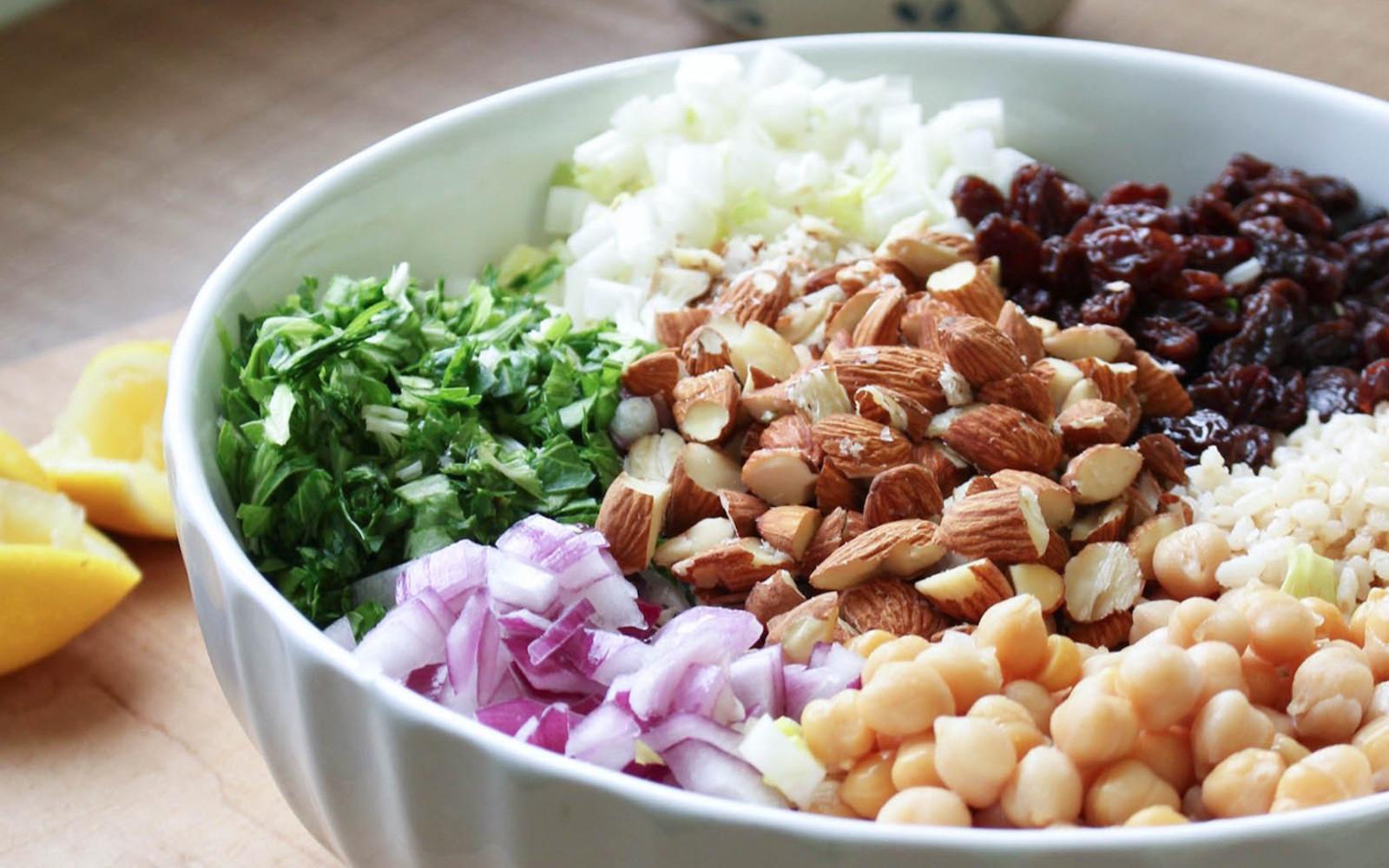 Brown Rice Salad With Italian Tahini
