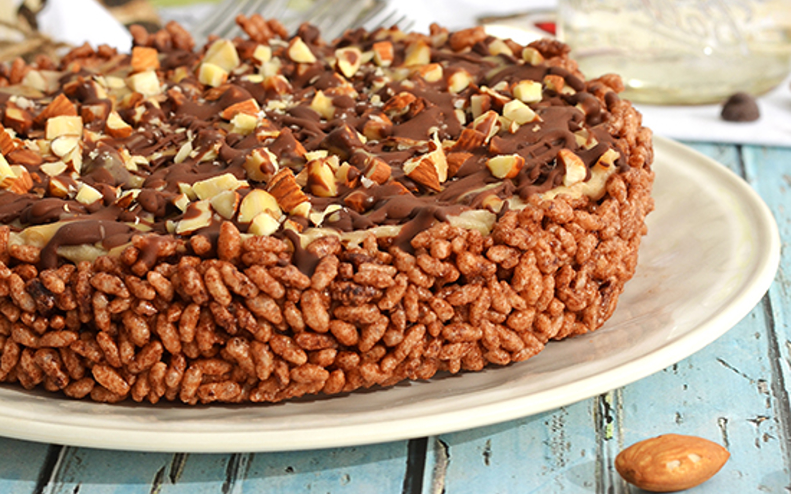 Chocolate Banana Peanut Butter Ice Cream Cake