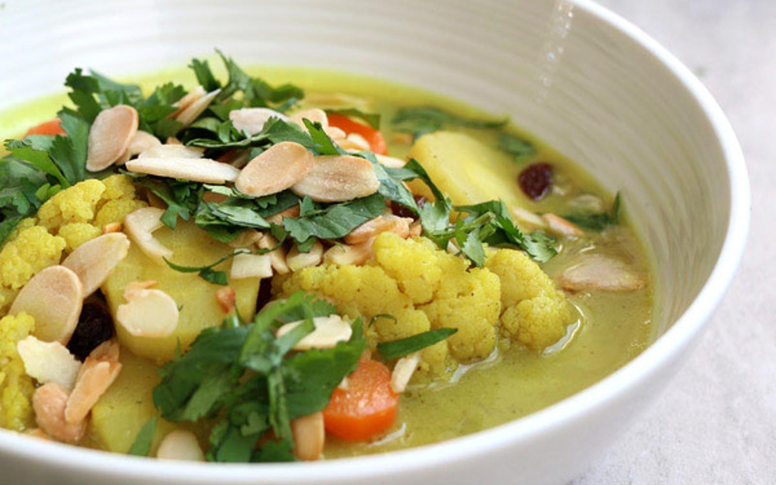 Cauliflower Parsnip Coconut Curry