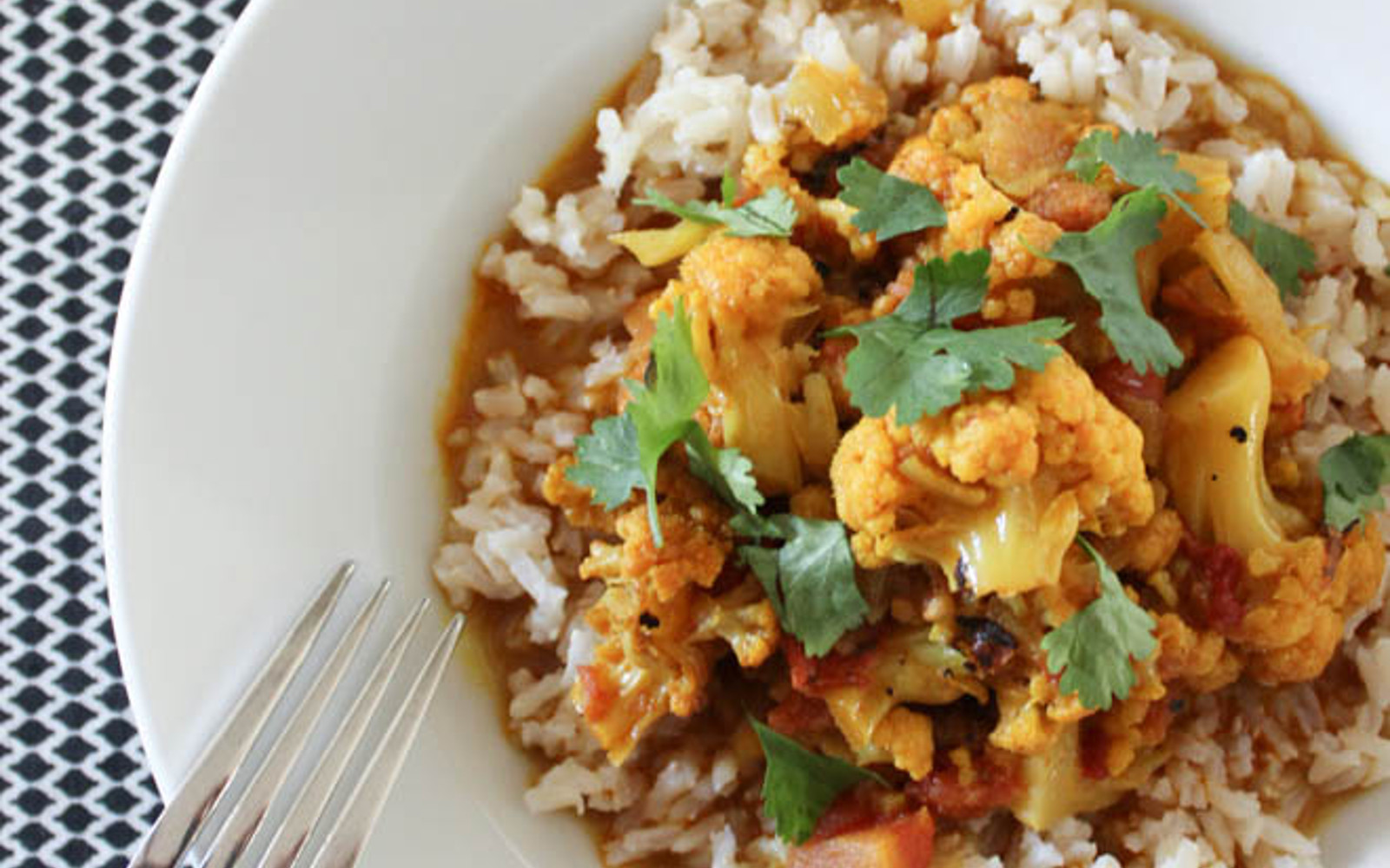 Coconut Curry With Cauliflower