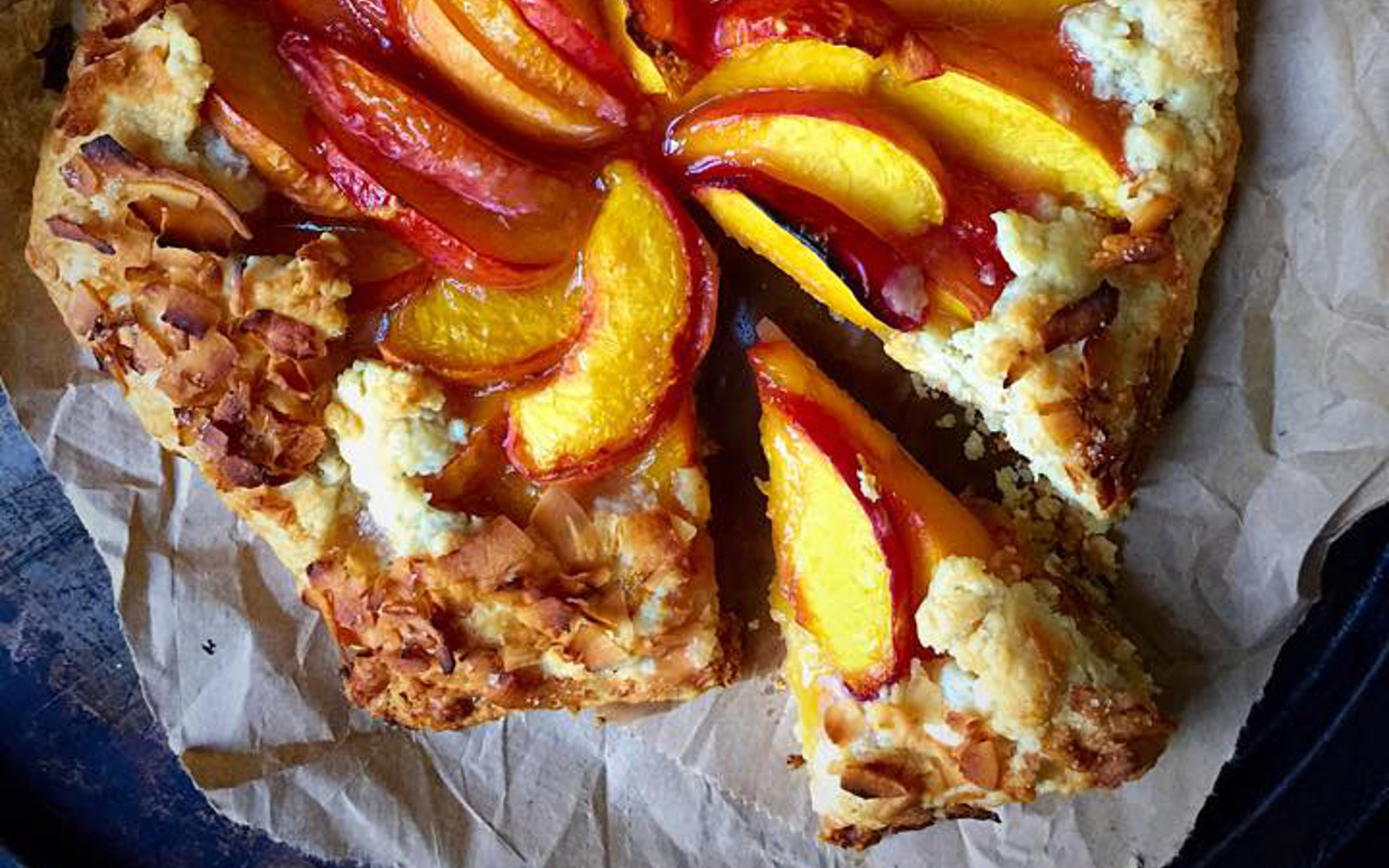 Peach and Coconut Galette