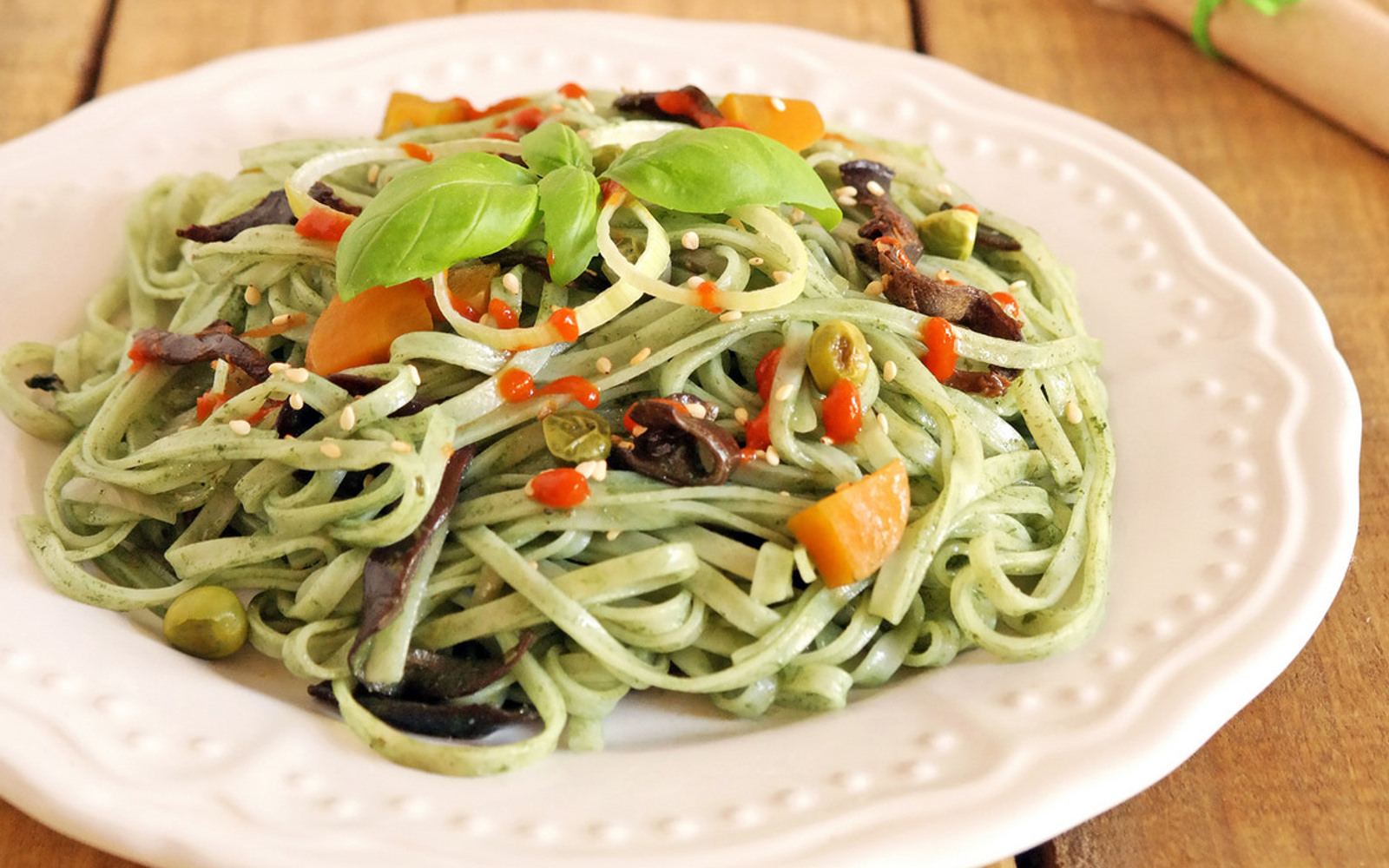 Vegan Green Tea Noodles