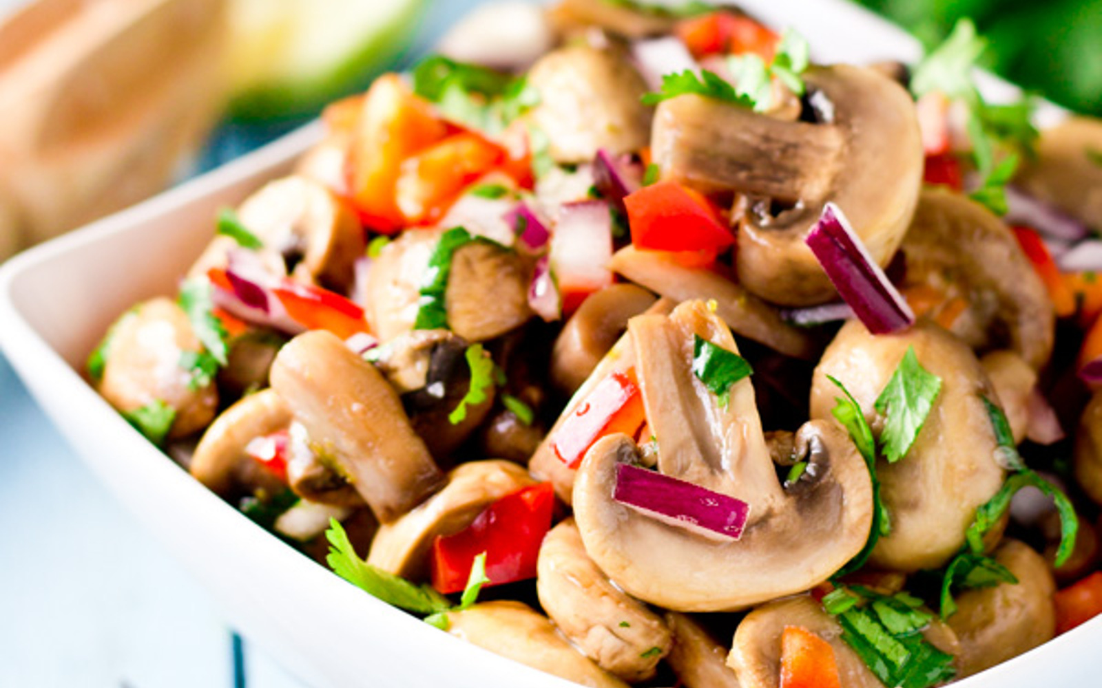 Lime-Marinated Mushrooms