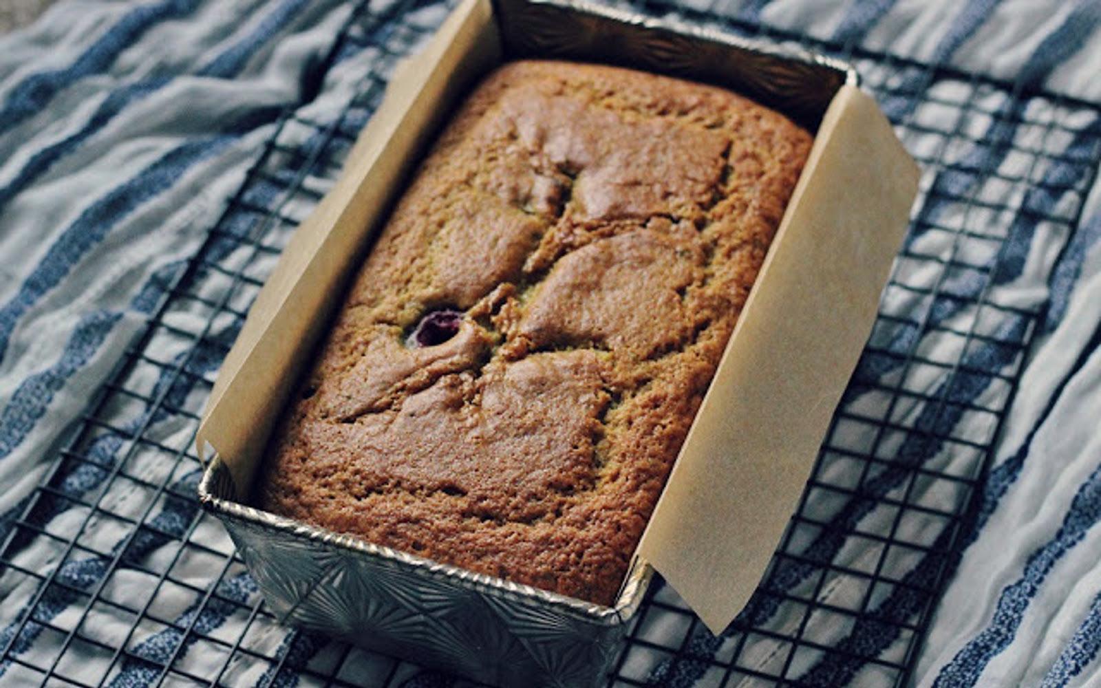 Lemon Thyme Raspberry Tea Cake