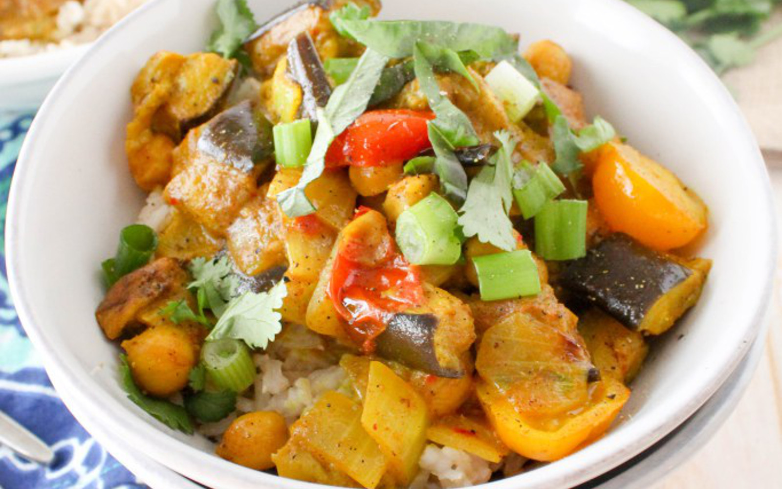 Roasted Eggplant Coconut Curry