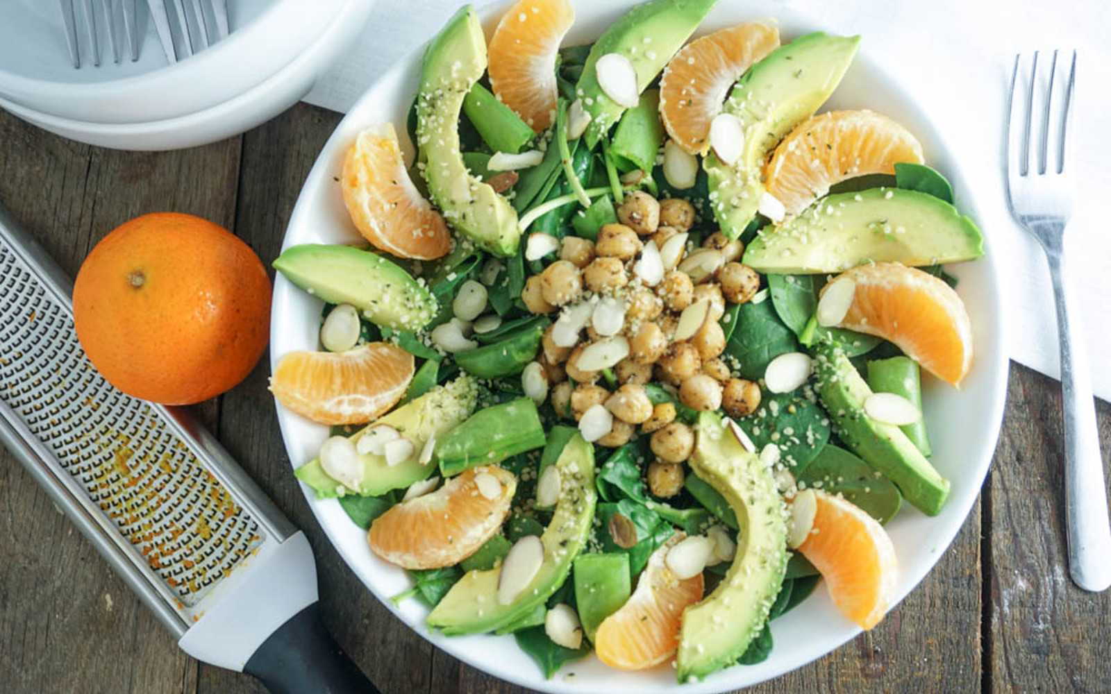 Satsuma Orange Chickpea Salad
