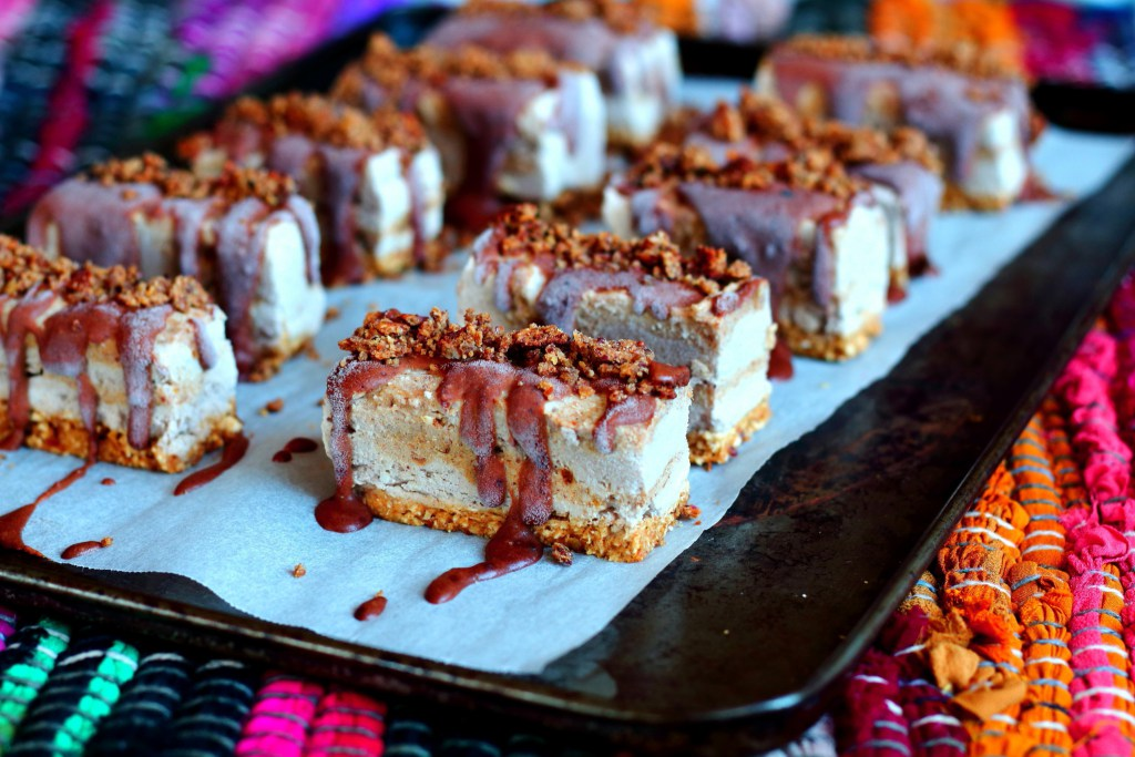 Toffee Vanilla Ice Cream Slices