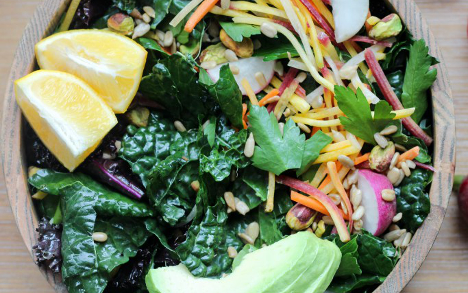 Spring Salad With Cilantro Tahini Dressing