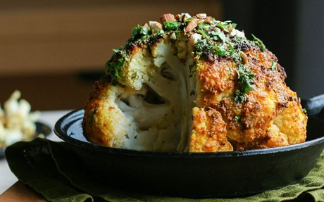 Tahini Whole Roasted Cauliflower