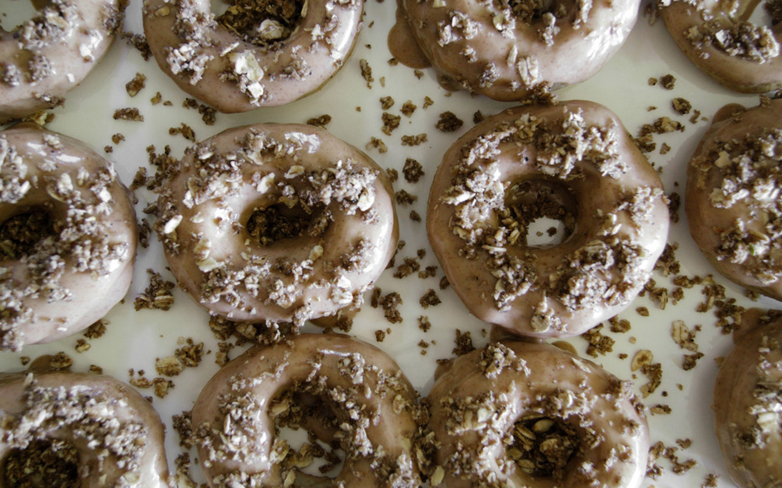 Baked Coffee Doughnuts With Maple Glaze 1