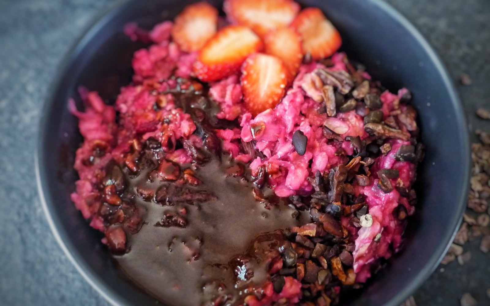Beetroot Cake Porridge