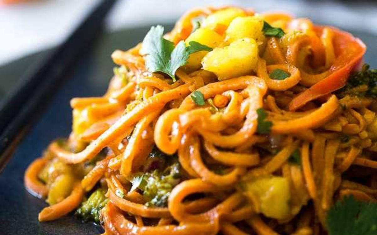 Coconut Curry Sweet Potato Noodles