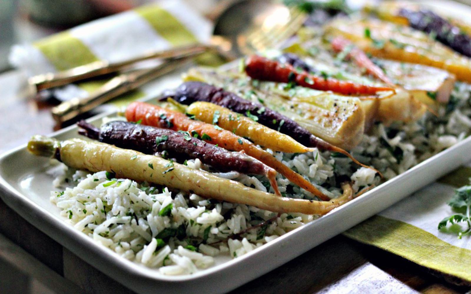 Miso Braised Carrots With Leeks