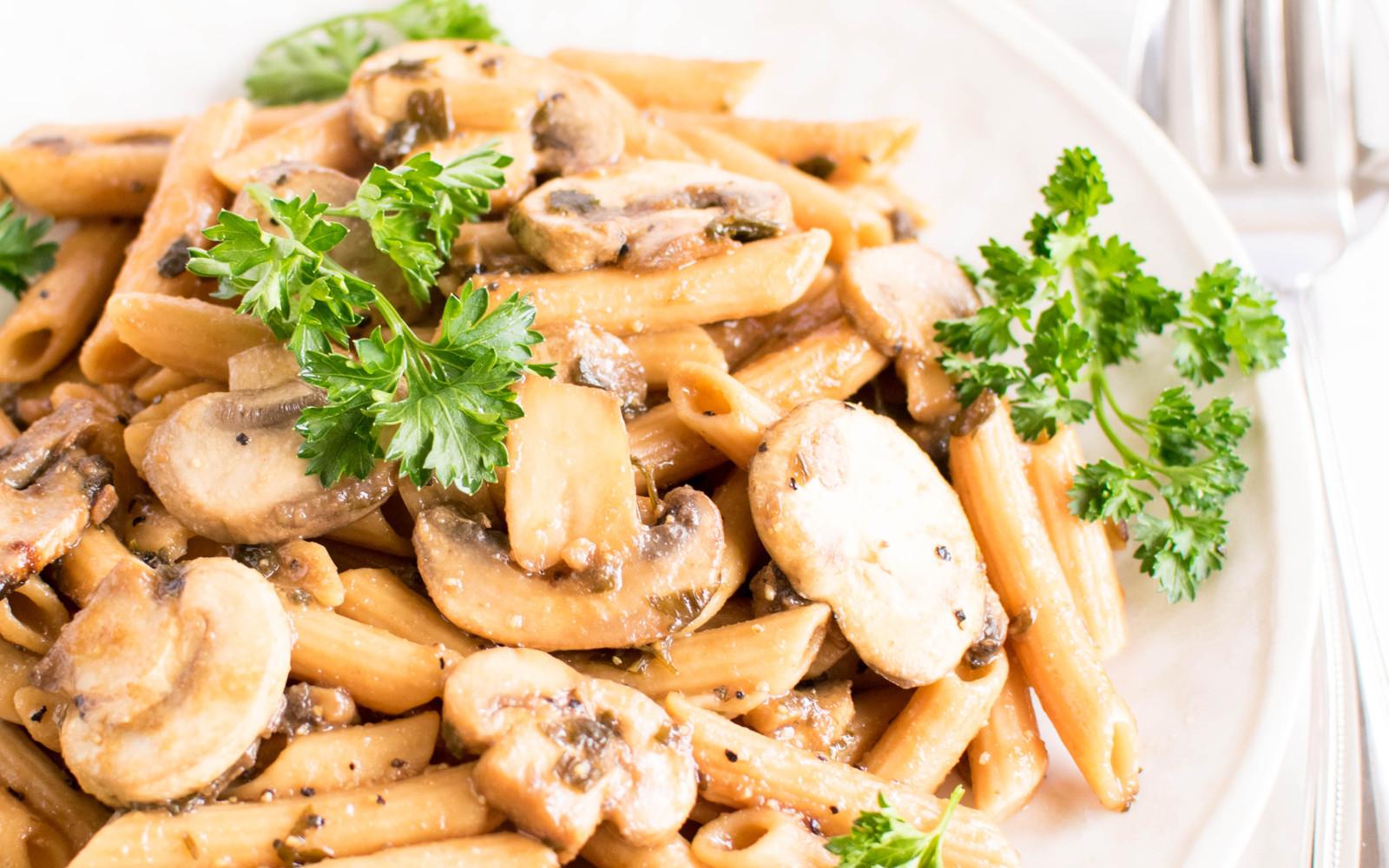 Pasta Mushroom Stir Fry
