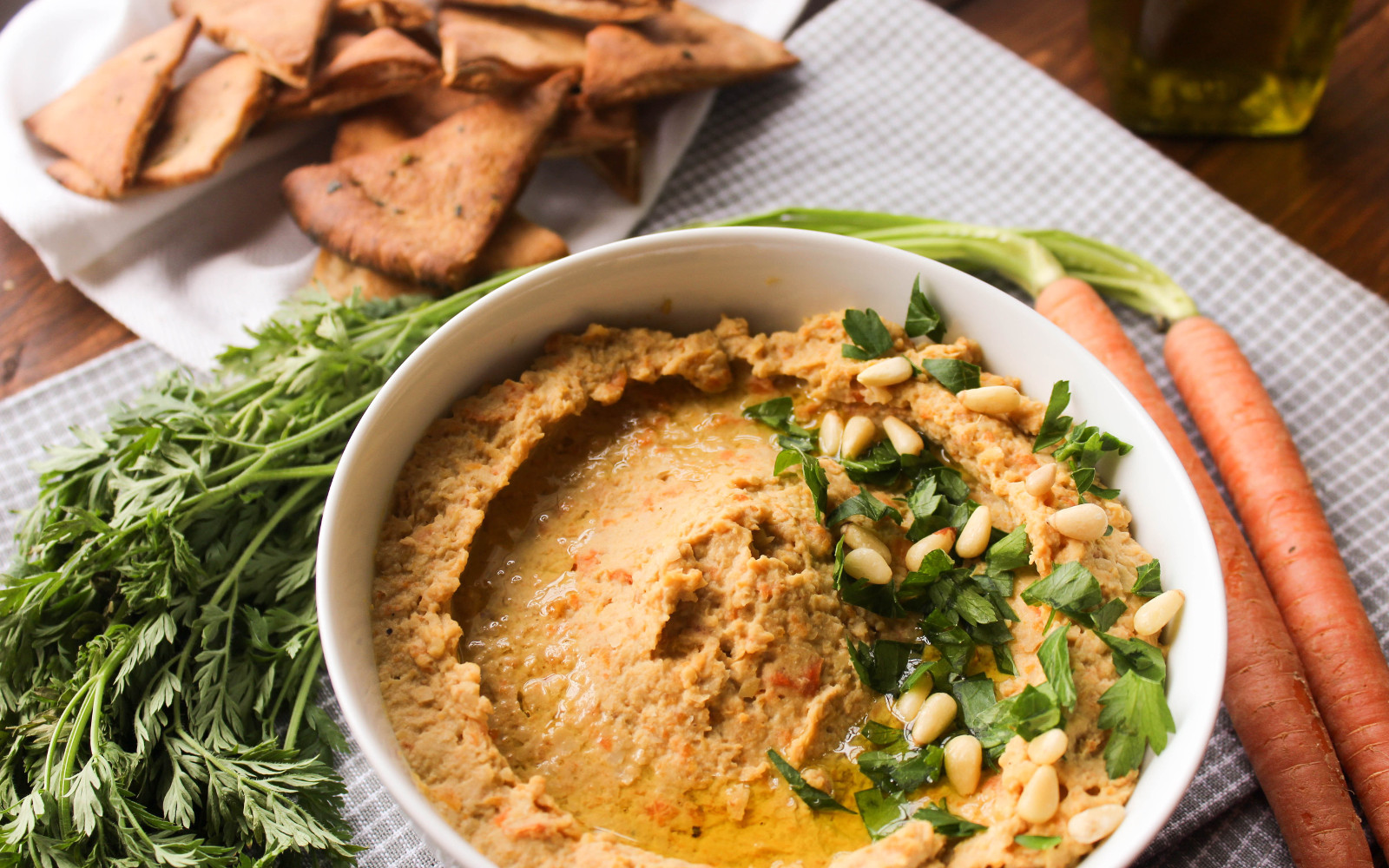 Roasted Balsamic Carrot Hummus