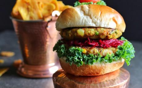 Vegetable Samosa Burger