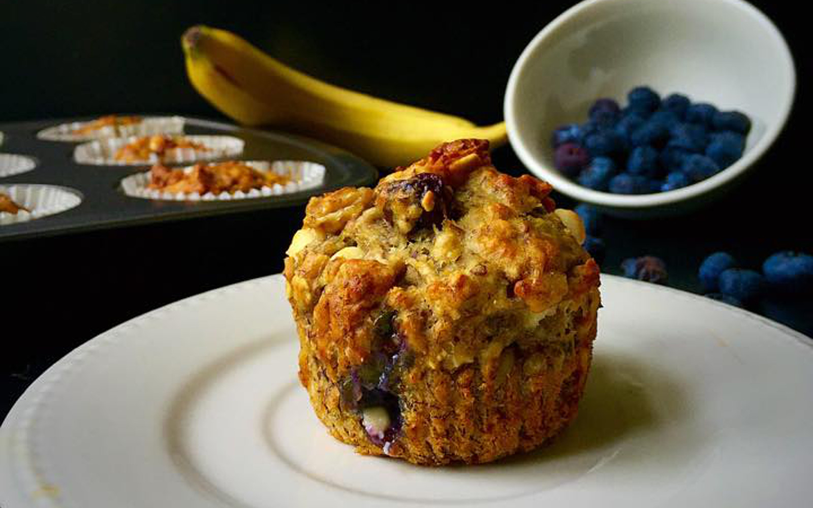 Blueberry and White Chocolate Muffins 1