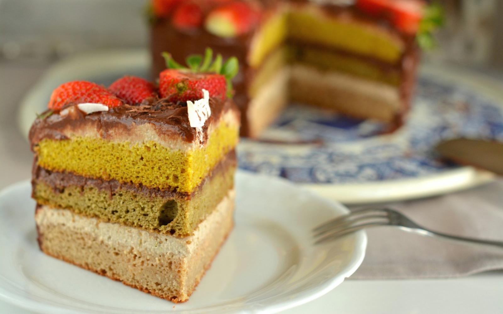 Cashew Ricotta Sponge Cake