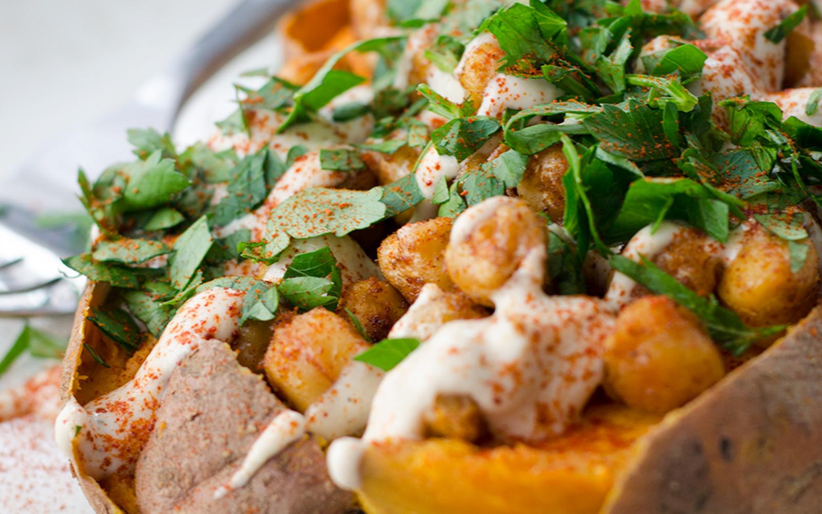 Chickpea-Stuffed Sweet Potatoes 1