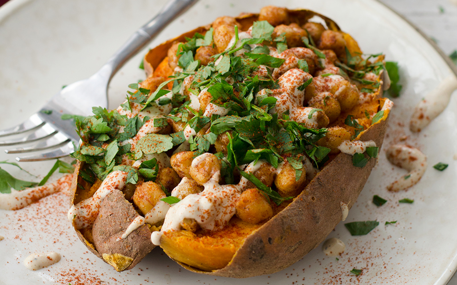 Chickpea-Stuffed Sweet Potatoes 2