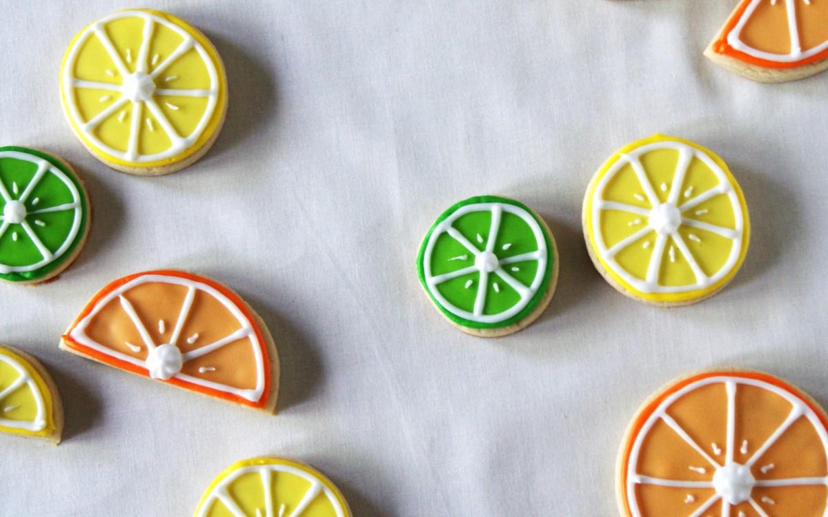 Citrus Vegan Sugar Cookies With Royal Icing