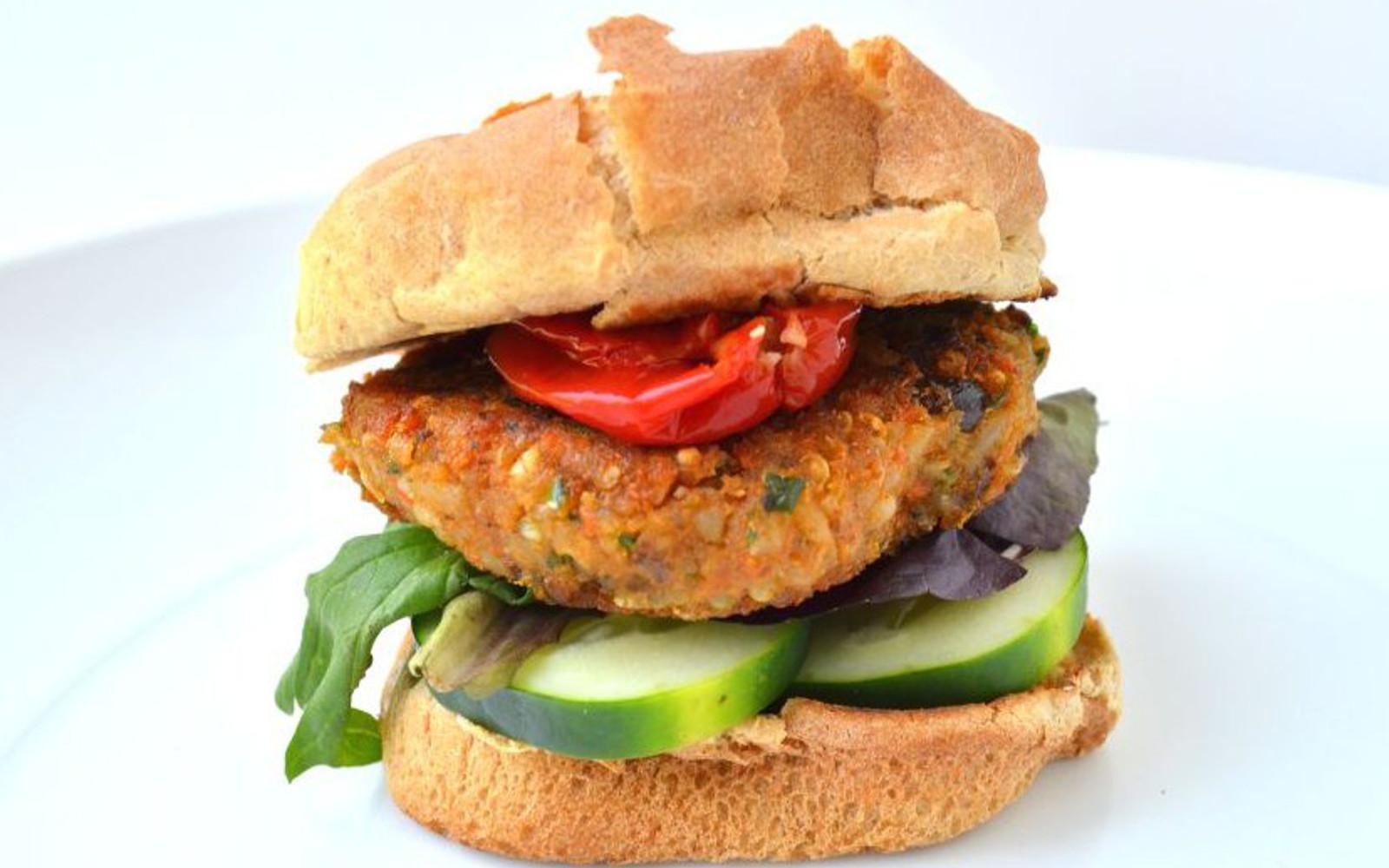 Garam Masala Veggie Burger