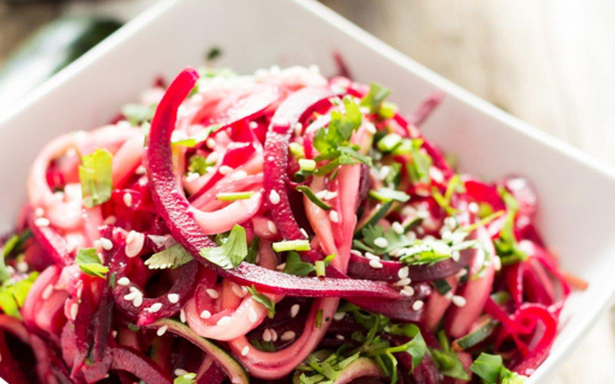 Garlic Zucchini and Beet Salad
