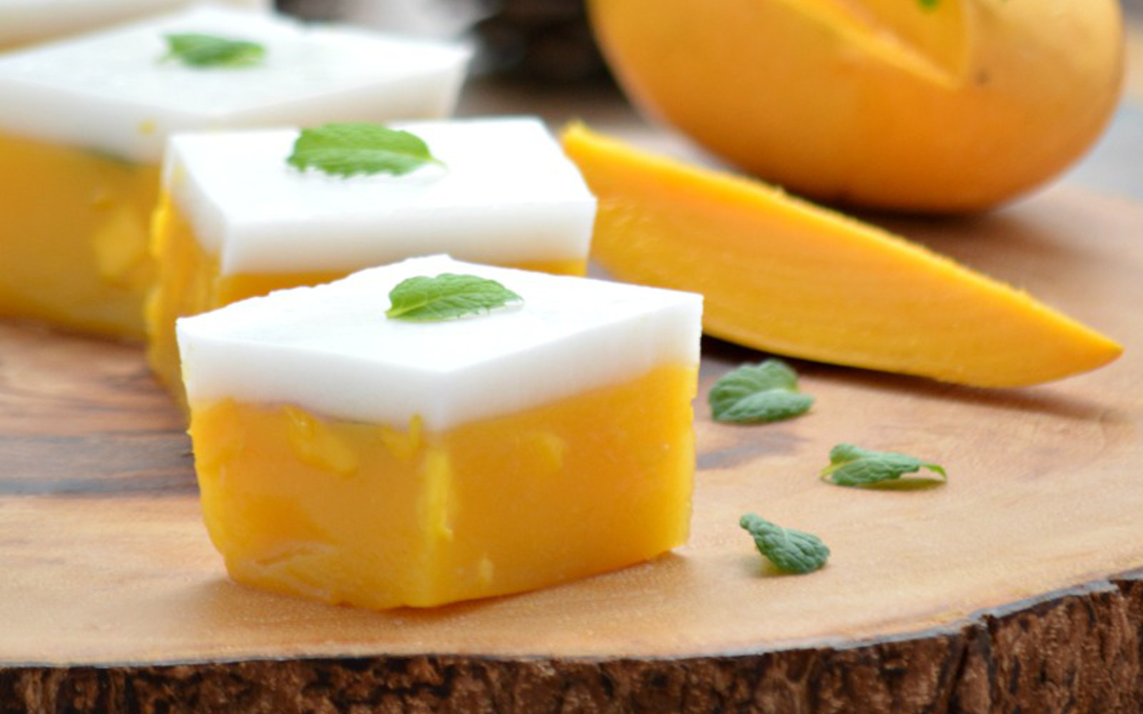 Mango and Coconut Jelly