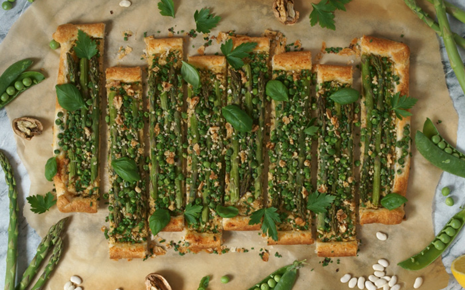 Pea and Asparagus Tart 1