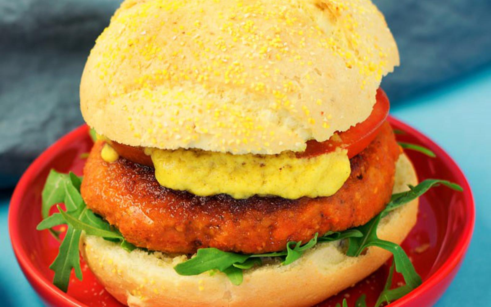Red Lentil Burger 1