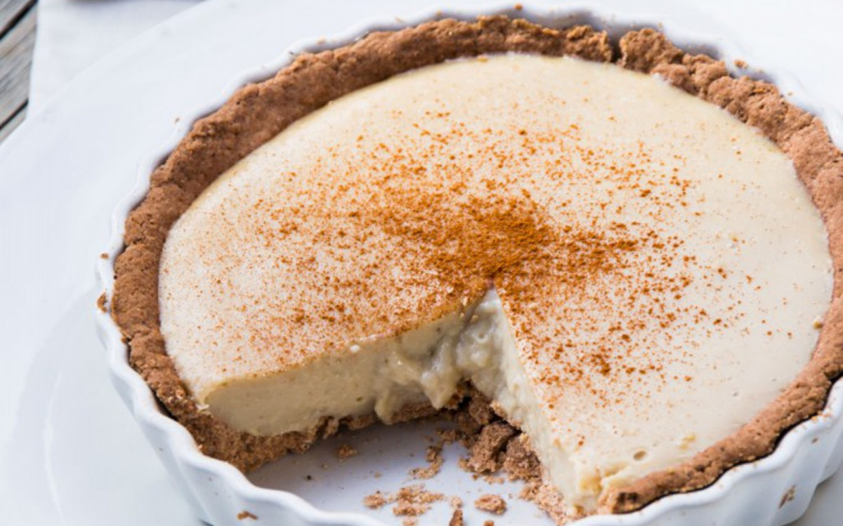 South African Milk Tart Vegan Gluten Free One Green Planet