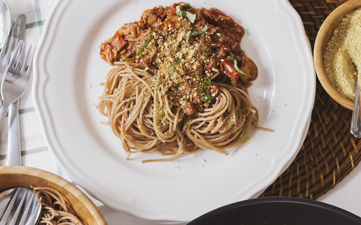 Vegan Spicy Mushroom and Walnut Bolognese
