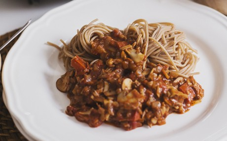 Spicy Mushroom and Walnut Bolognese