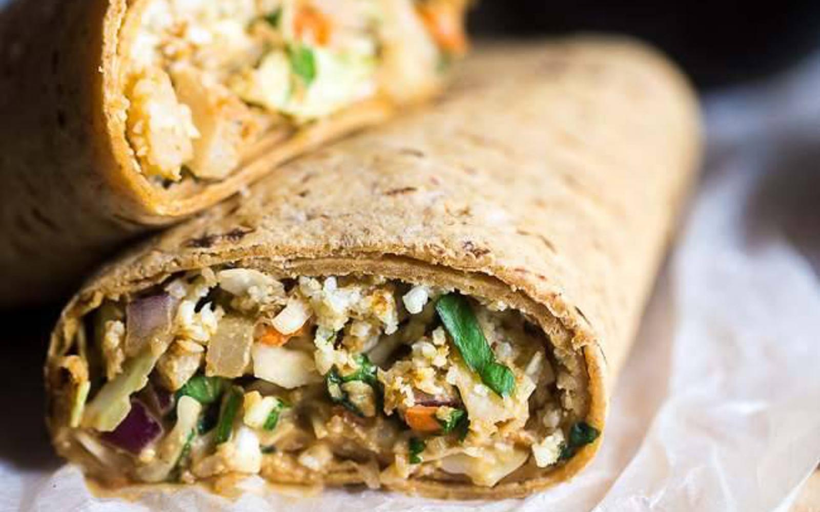 Thai Salad and Cauliflower Rice Wrap 2
