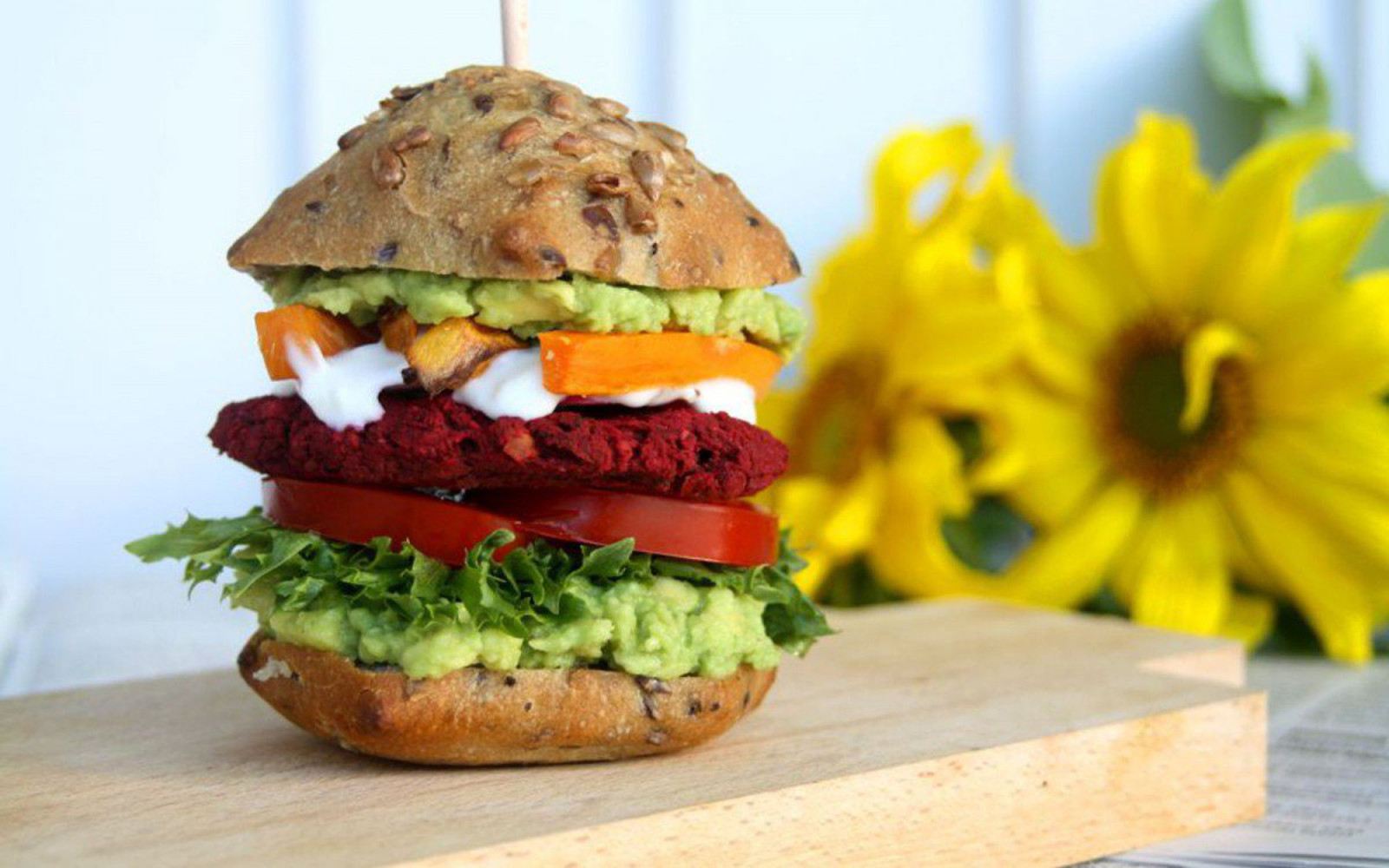 beet falafel burger