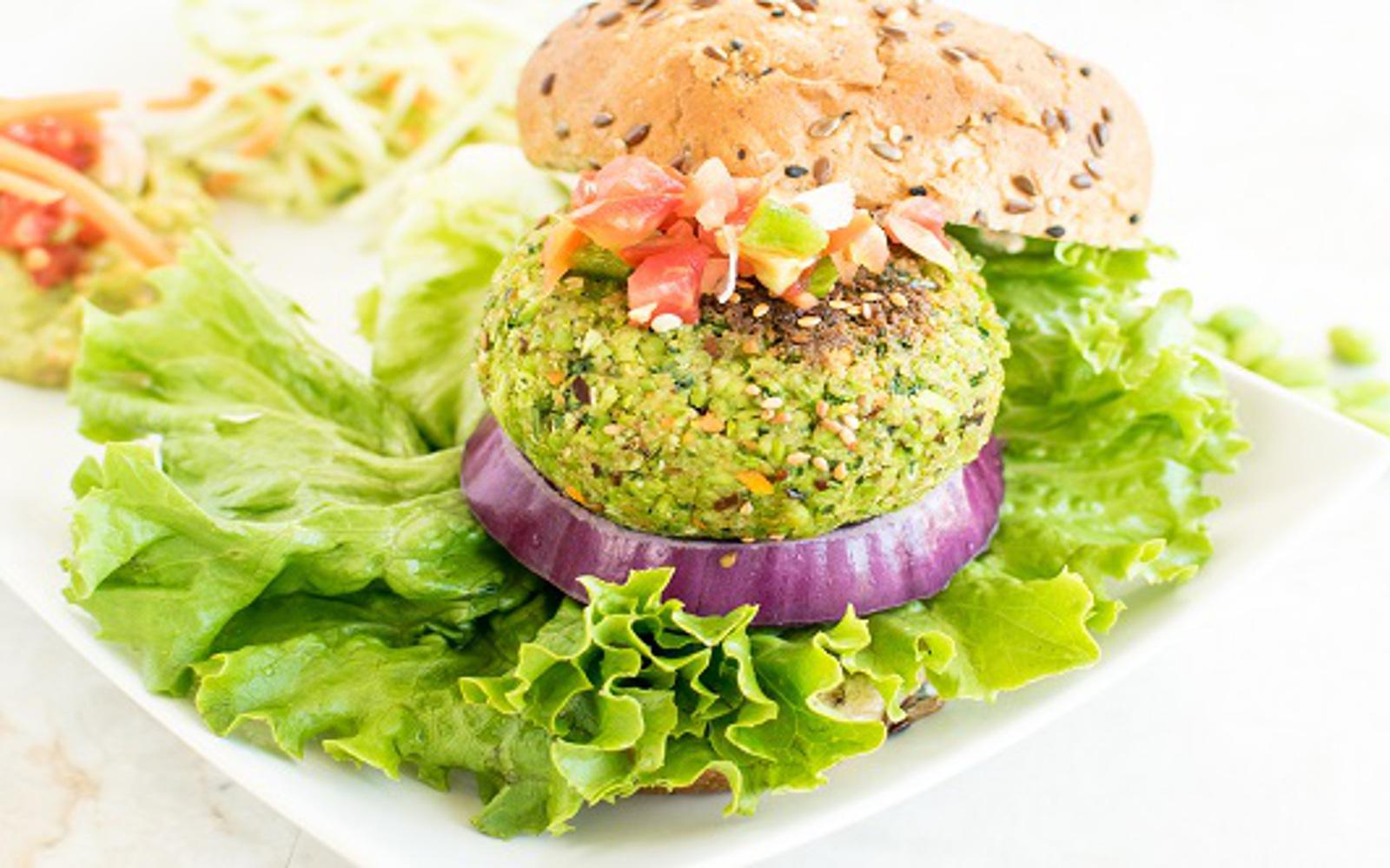 Cilantro Edamame Burger 1