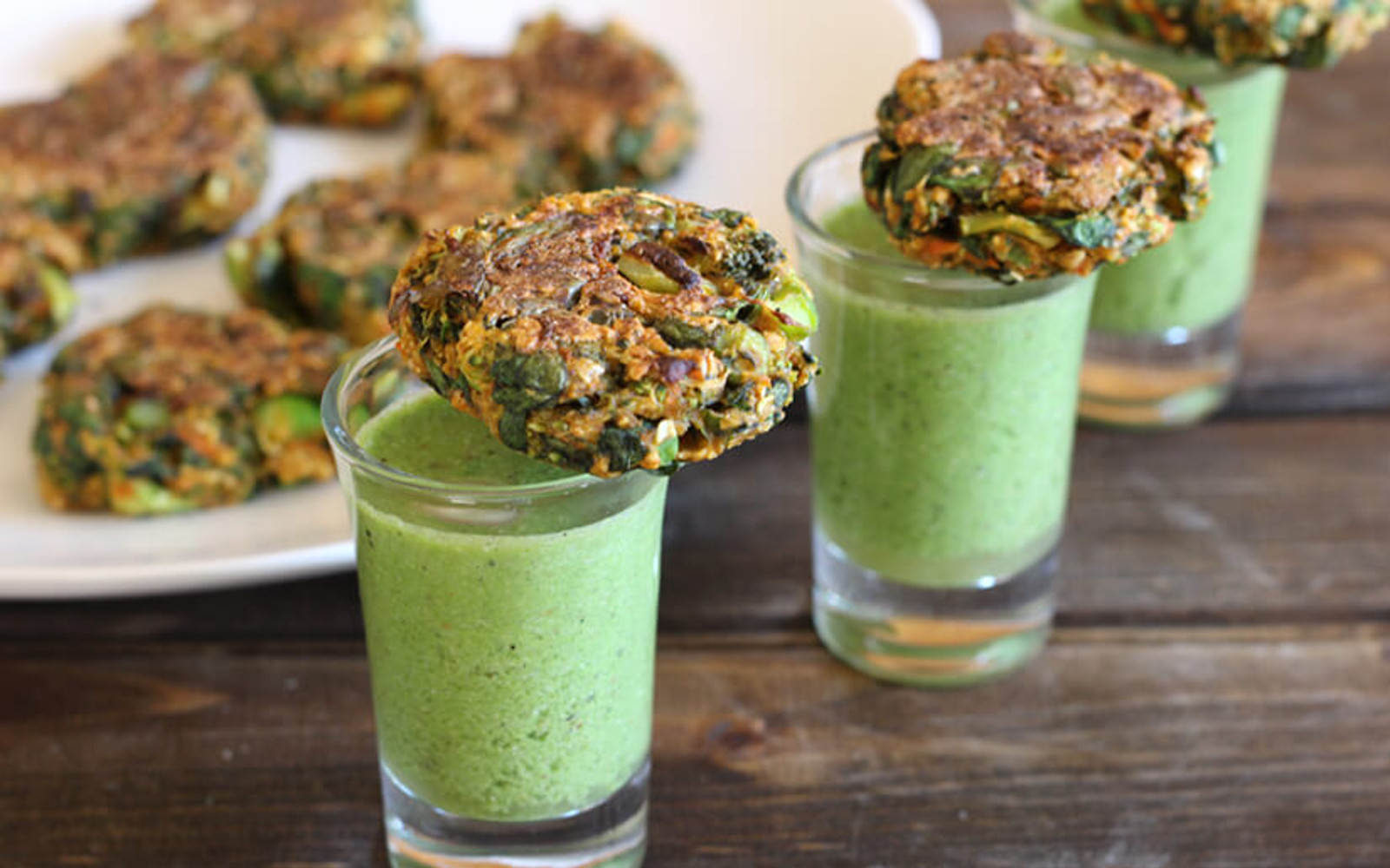 spinach and broccoli patties