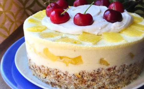 Frozen Piña Colada Cake
