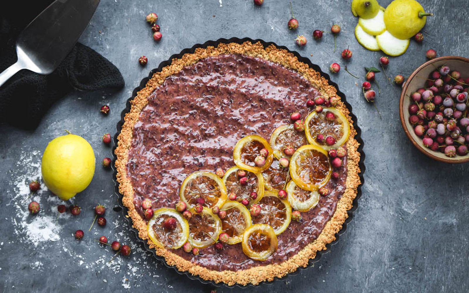 Guava and Candied Lemon Tart d
