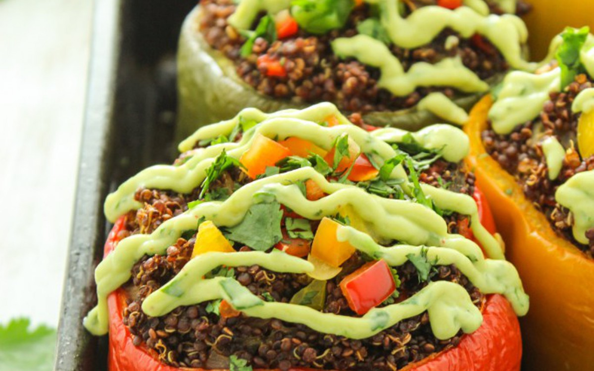 Mexican Quinoa Stuffed Bell Peppers 2