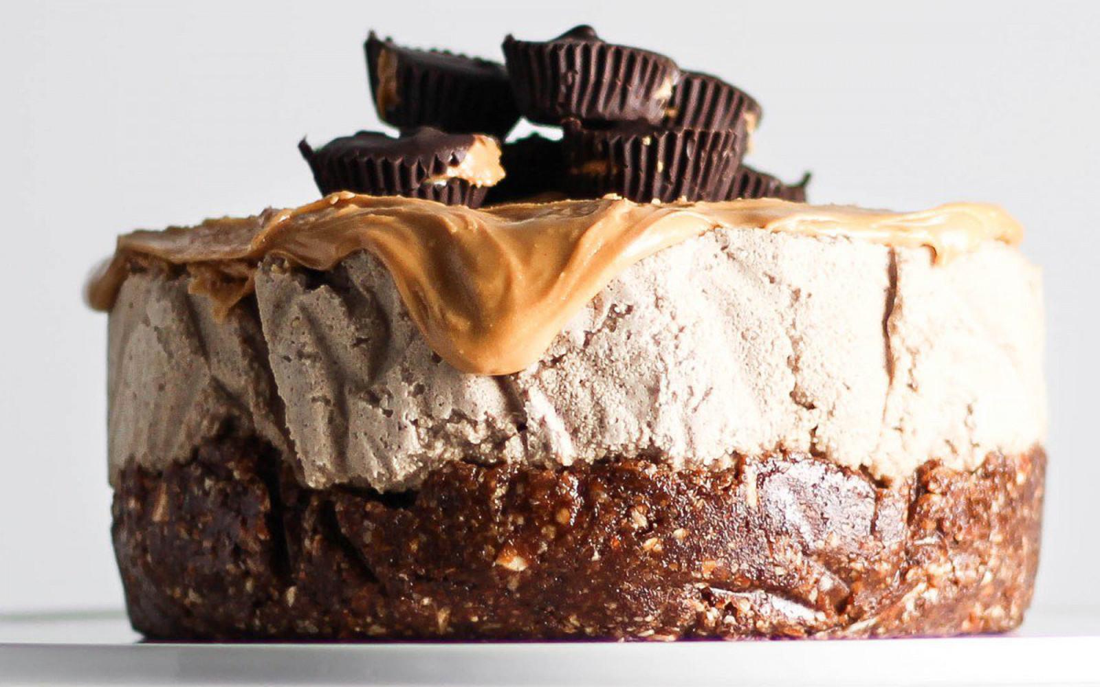 no bake peanut butter mocha cake