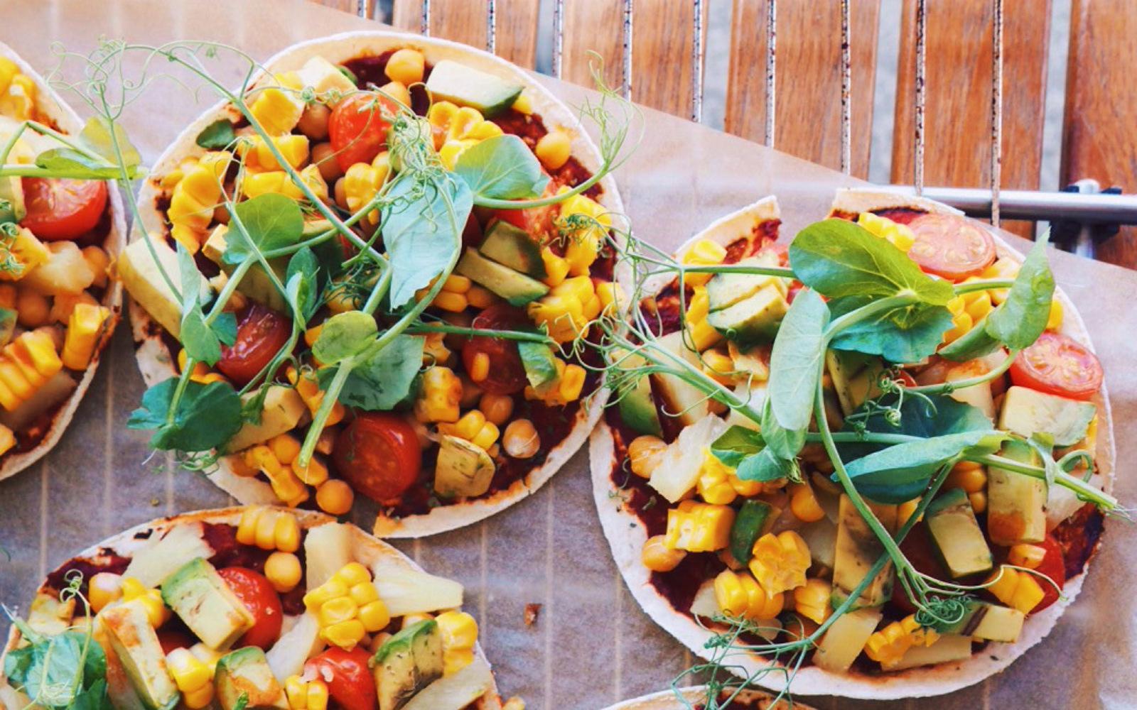 Vegan Pineapple Pizza Tacos