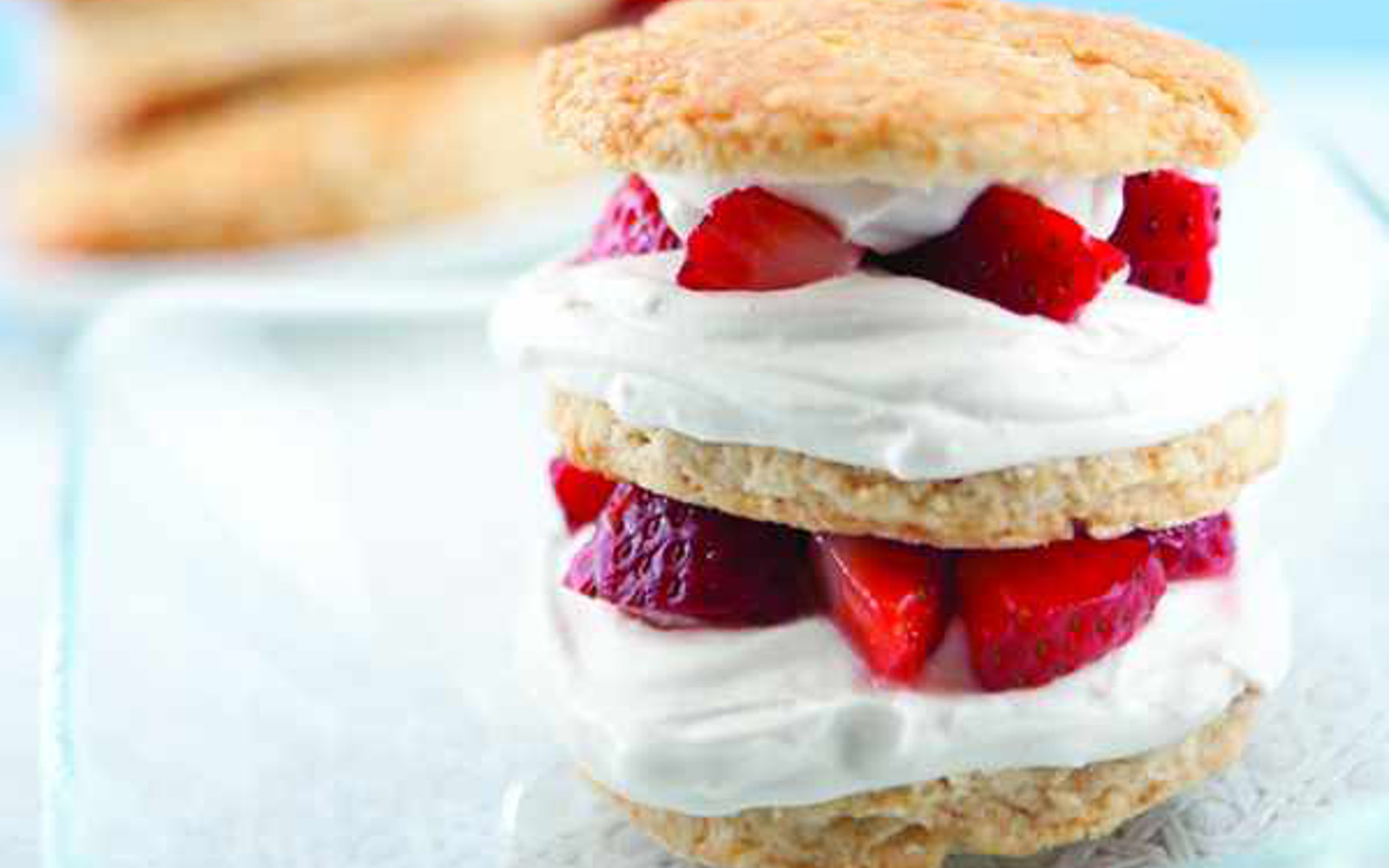 strawberry shortcake with coconut whipped cream
