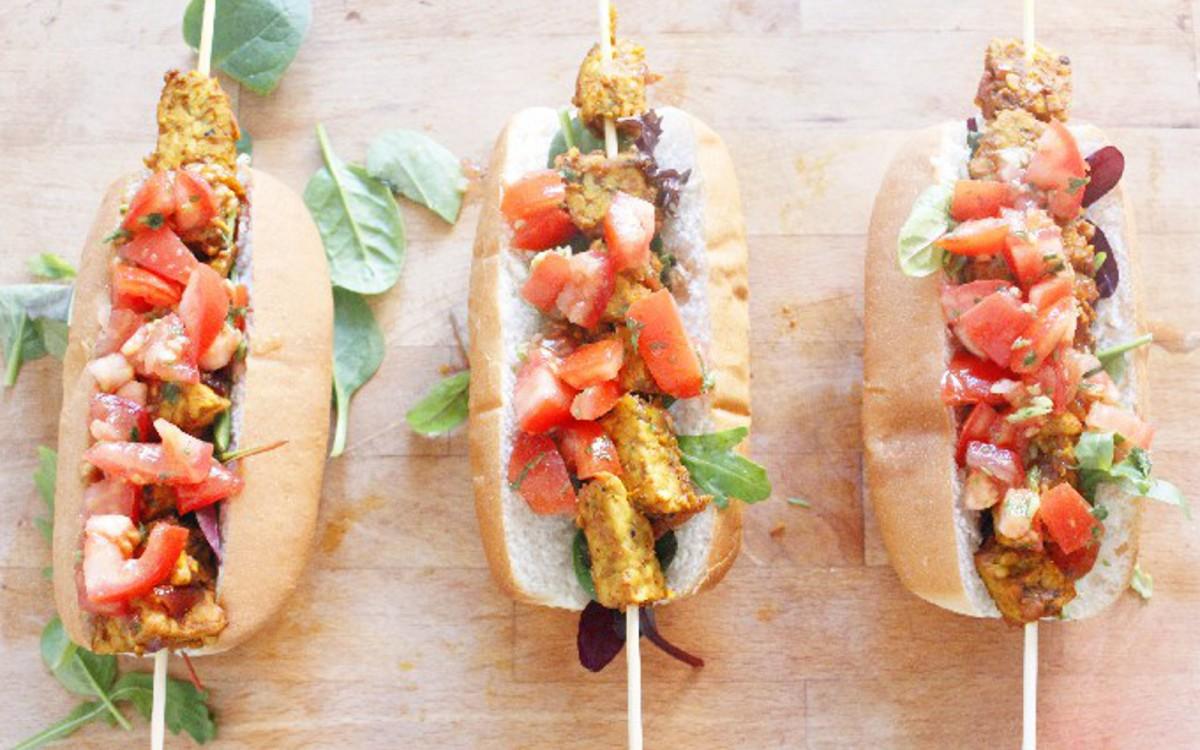 Tempeh Kebab Rolls