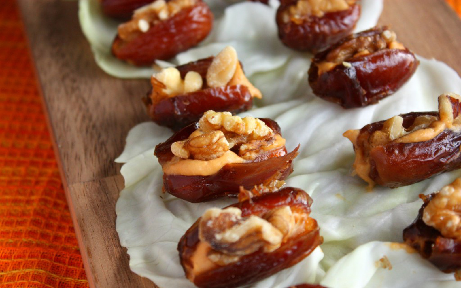 Walnut and Cashew Cheese Stuffed Dates